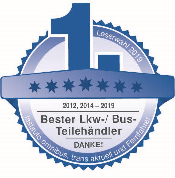 Beste Marke 2019: EUROPART erneut als bester Lkw Bus